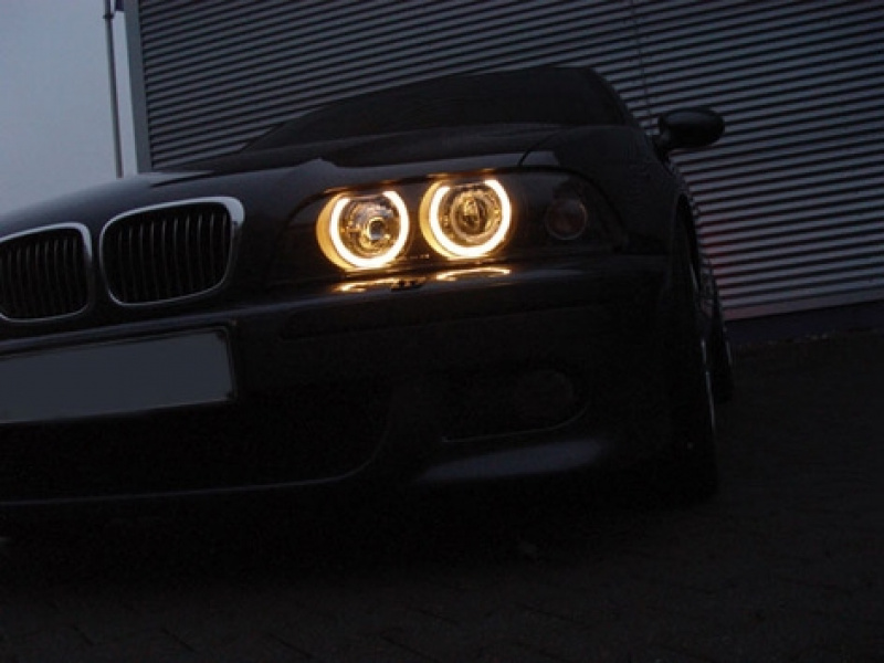 Angel Eyes Strålkastare Svart BMW 5-Serien E39 1995-08.2000