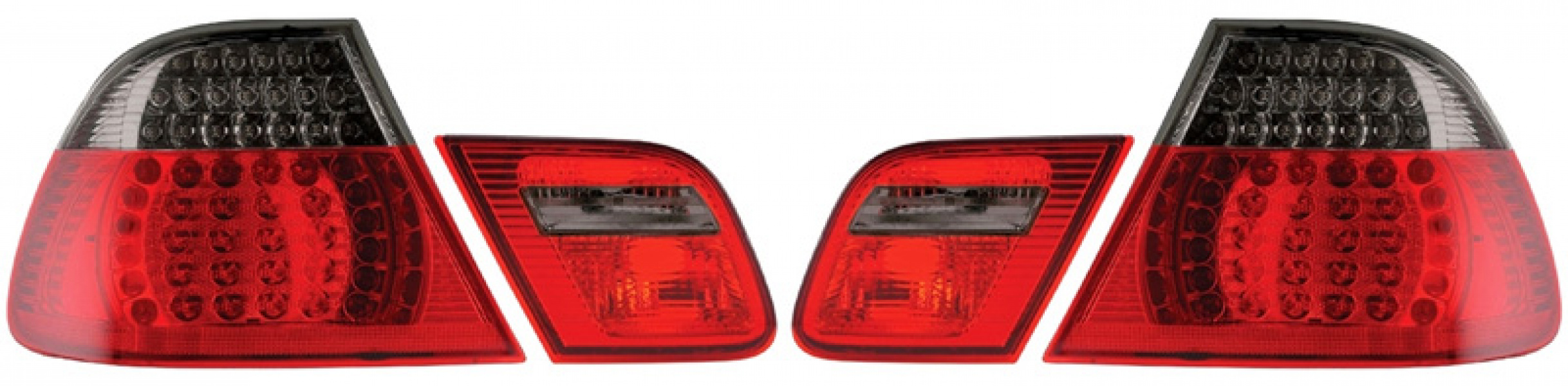 Baklampor LED Smoke/Röd BMW 3-Serien E46 Coupe 1999-2003