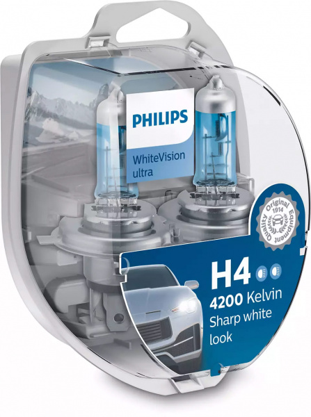Philips H4 WhiteVision Ultra 55W Halogen Lampa