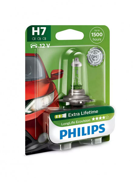 Philips Halogen H7 Lampa LongLife EcoVision