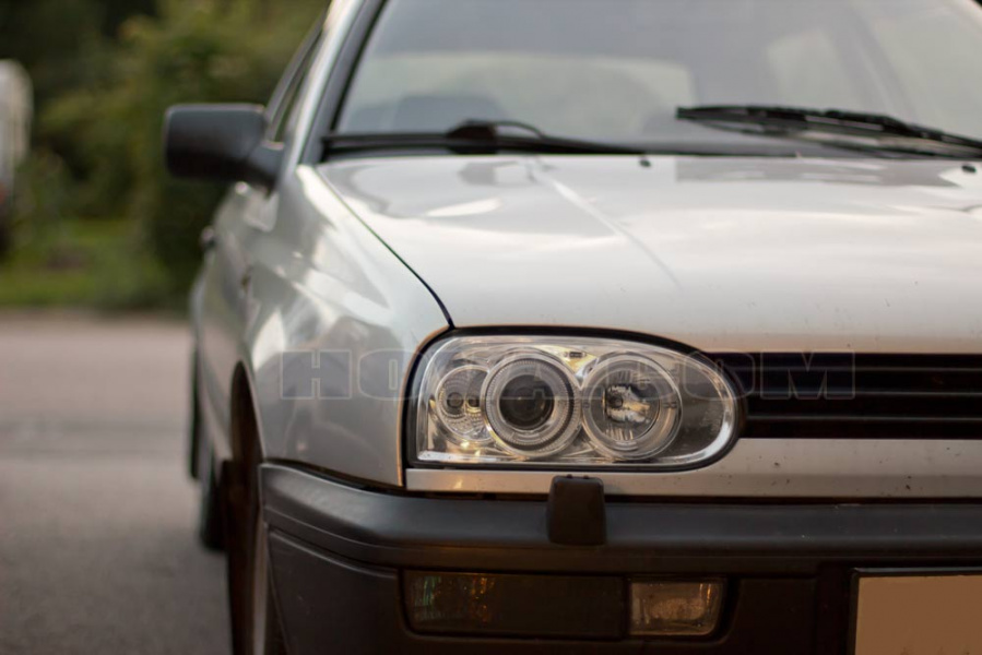 Angel Eyes Strålkastare Krom VW Golf MK3 1991-1997