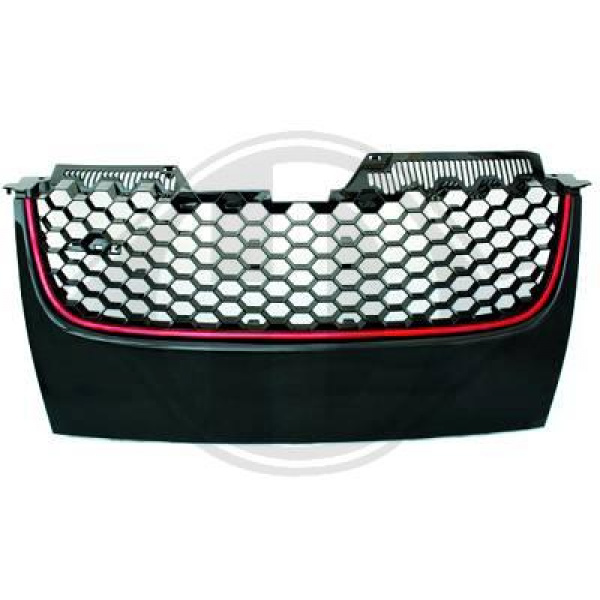 Grill Svart GTI-Look VW Golf MK5 2003-2008