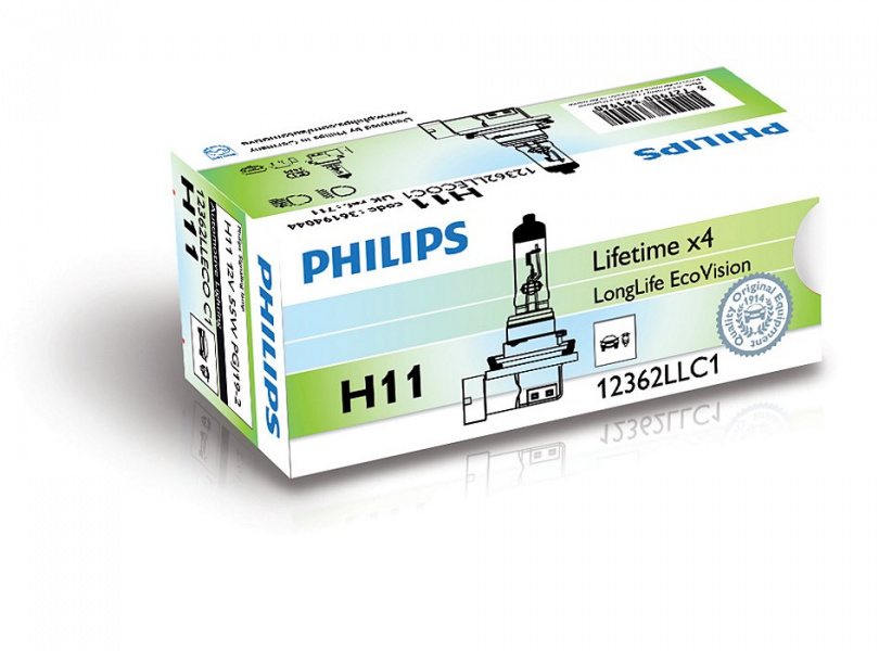 Philips Halogen H11 Lampa LongLife EcoVision