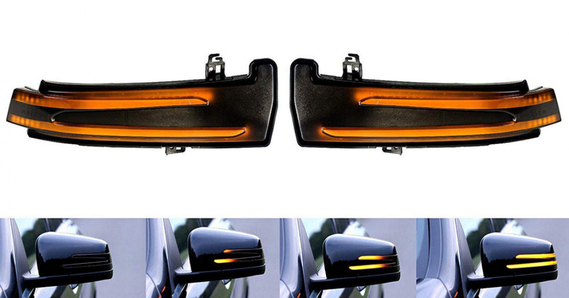Dynamic LED Spegelblinkers Mercedes Benz A, B, C, E, S-Klass mm